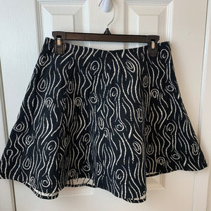 Opening Ceremony Black & White pattern Mini Skirt